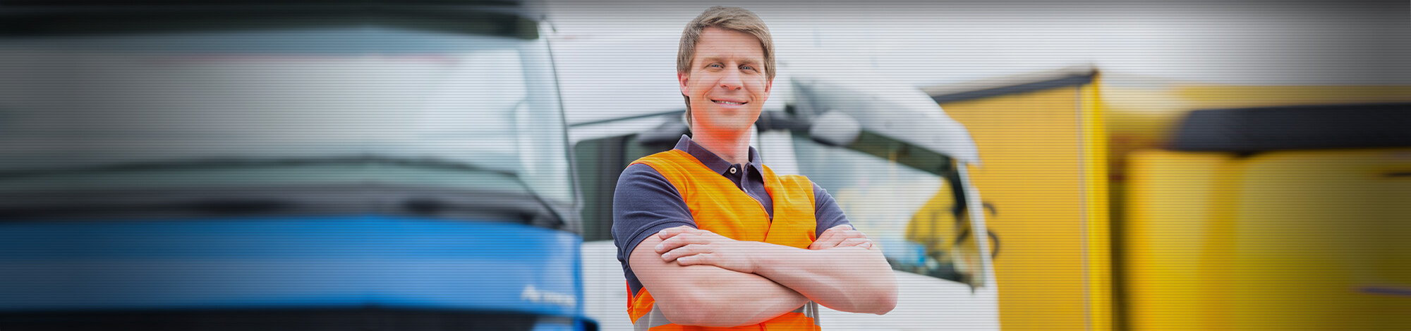 image of hgv driver worker