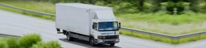 image of hgv van driving down road