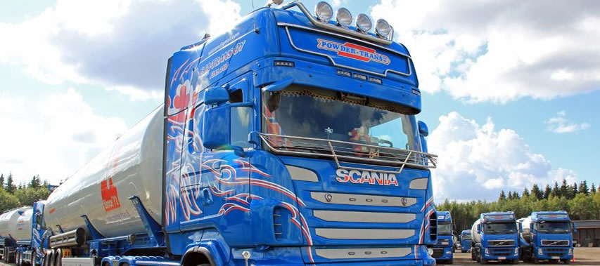 image of large hgv truck in blue