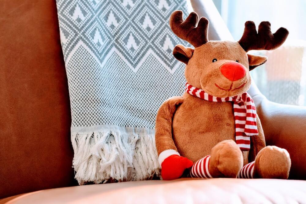 reindeer cuddly toy