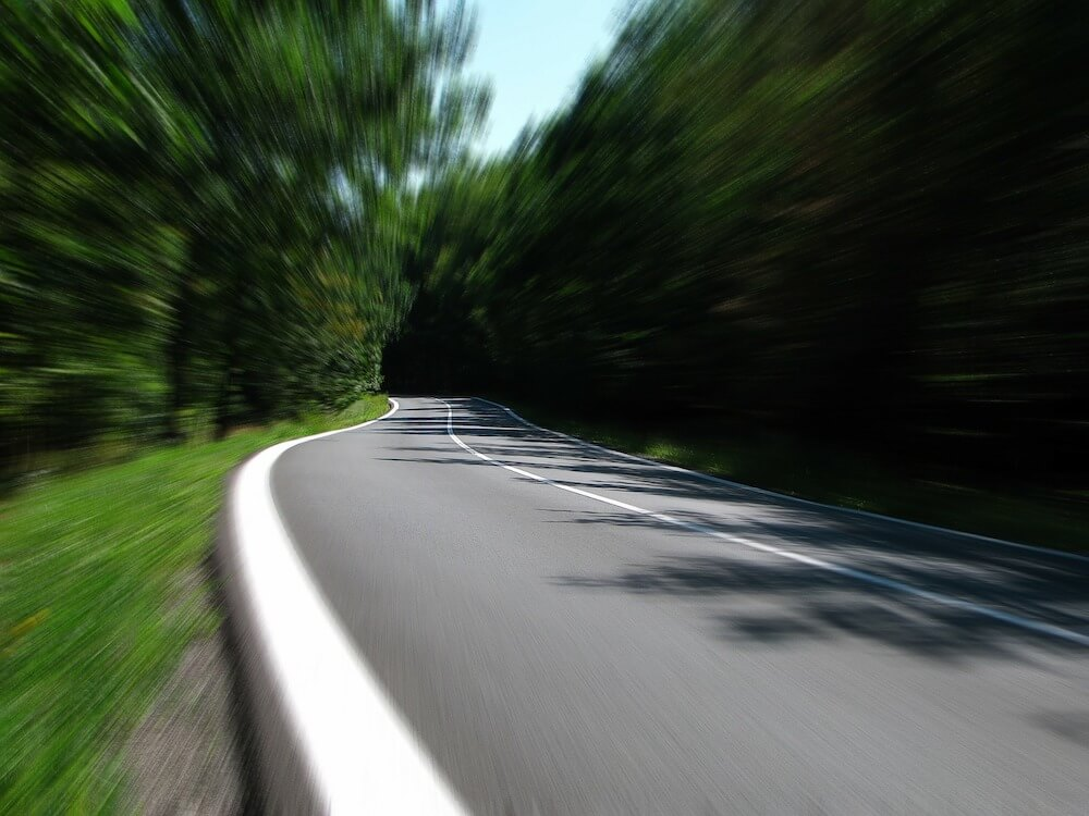 landscape view with motion blur