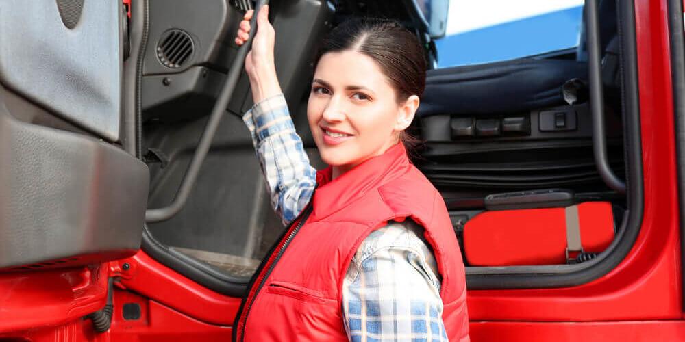 woman hgv driver image