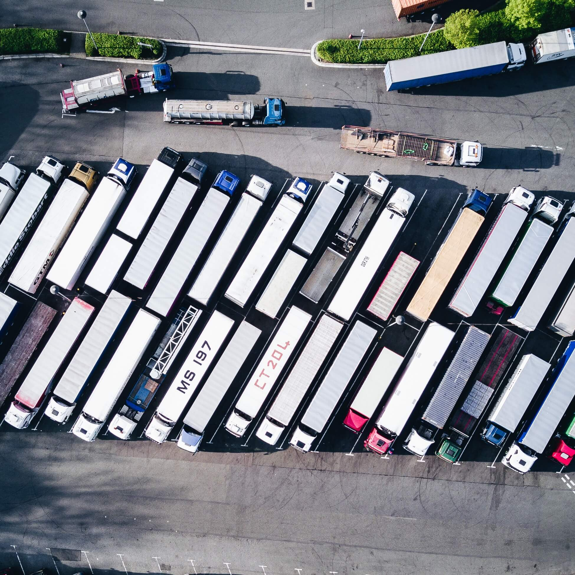 image of many hgvs top down view
