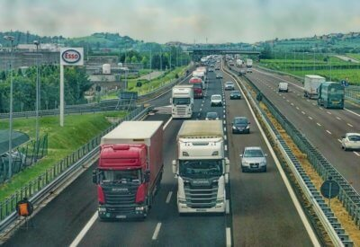 lgvs and hgvs on busy motorway
