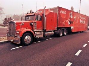coca cola truck hgv lorry