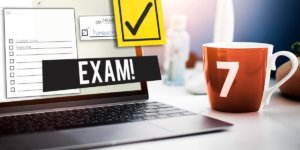 image of laptop with exam in process