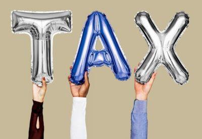 tax balloon graphic image