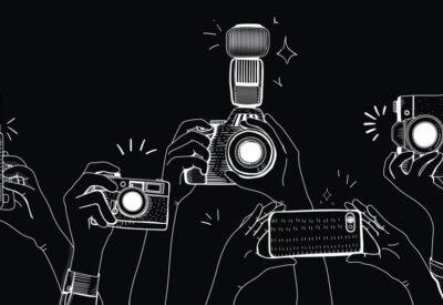 graphic illustration of cameras