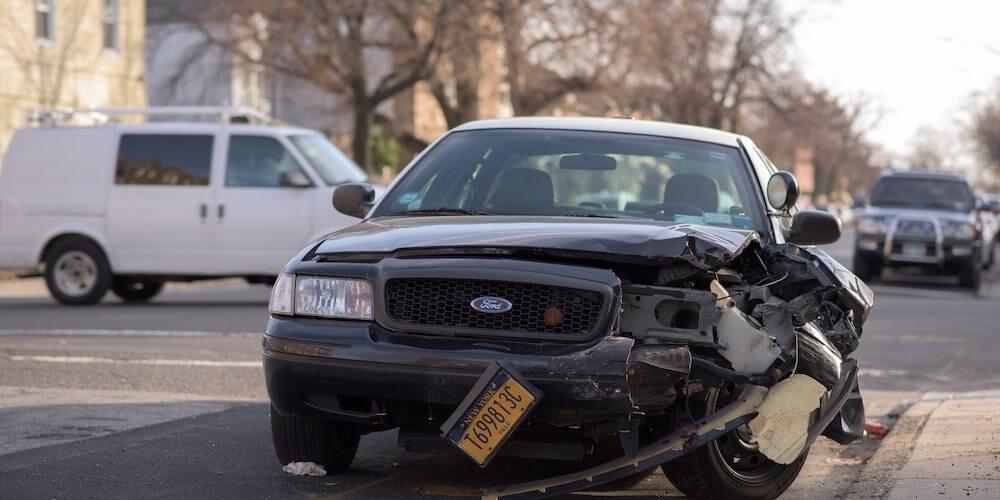 image of damaged car