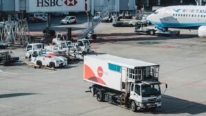image of lorry's at airport