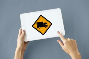 tablet with lorry image