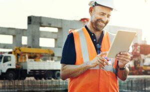 working labourer smiling man